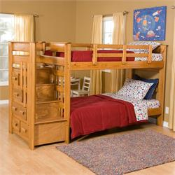 TWIN OVER TWIN 3 STAIR BED 6087B Image