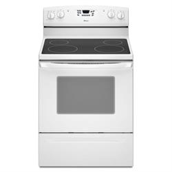 "Amana 30"" White Smooth Top Electric Range AER5630BAW Image"