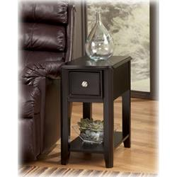 ASHLEY ALMOST BLACK CHAIRSIDE TABLE T007-371 Image