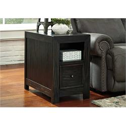 Black Chair End Table T752-7  Image