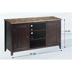 "Torino 55"" TV Stand Faux marble top/adjust shelves CF155MCP Image"