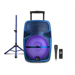 "15"" 3000 Watt Speaker Rechargable/Bluetooth/Mic PARTY 15RPKG Image"