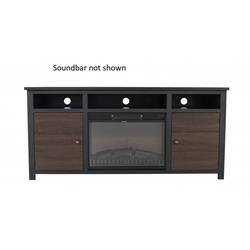 "Torino 55"" TV Stand mantle console - Black/Brown CF165WBB Image"