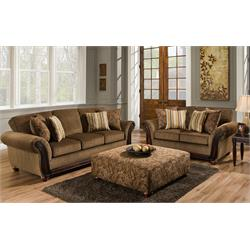 Cornell Chestnut  Sofa and Love 1662-5653-5652 Image