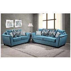 Home Run Teal Shimmer Sofa and Loveseat 5100-35-38-TEAL Image