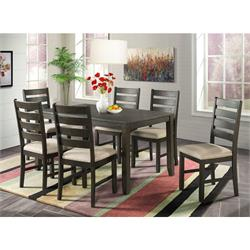 "Brock 60"" 7pc  - Dining  Table with 6 chairs DBR1007DS Image"