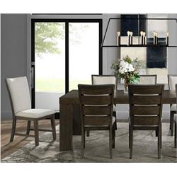 Grady Dining Table - 7 Piece w Back Side 6 Chairs DGD218DT-7 Image
