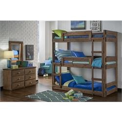 TWIN/TWIN Over Twin Wood Bunk Bed 610HBB Image