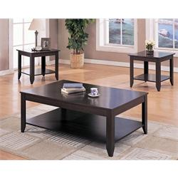 3PC OCCASIONAL TABLES, CAPPUCCINO 700285 Image